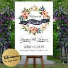 Personalised Welcome To Our Wedding Sign Poster Floral Pink & Neutral Party