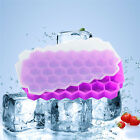 36 Cell Silicone Ice Cube Tray Honeycomb Ice Lattice Mold With Cover Frozen Ice