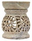Soapstone/ Marble Tea Light Candle Holder Lamp Hand Carved Decorative T-Light