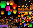 10 Chinese Sky Lanterns - 7+ COLORS Biodegradable & Environmentally Pleasant!