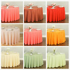 LinenTablecloth 108 in. Round Polyester Tablecloths, 33 Colors