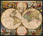 New World Map - DIY Counted Cross Stitch Patterns Needlework for embroidery