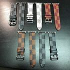 Apple Watch LV Gucci Grid Pattern Leather Replacement Band Strap Series 1 2 3 4  image
