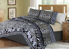 Soft Coverlet Bedspread 2/3 PC Quilt Set Zebra Leopard Giraffe Design Animal #6 image