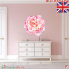 Large Pink Rose Wall Sticker Art Home Décor Flower Girls Bedroom Shabby Chic