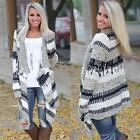 Womens Ladies Knitted Open Cardigan Sweater Long Sleeve Jumpers Shawl Coat Tops