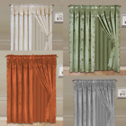 Kyпить COMPLETE WINDOW DRESSING CURTAIN SET FAUX SILK PRINTED PANELS TREATMENT nada на еВаy.соm