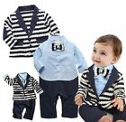 Baby Boy Wedding Christening Tuxedo Formal Suit Party Outfit+Jacket Clothes Set