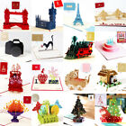 3D Pop Up Card Buildings Wedding Baby Animals Holiday Invitations Greeting Cards