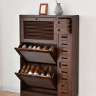Oak Wooden Shoe Storage Hallway Office Cabinet Wood Furniture Organizers Gift
