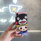 Cute Bear Cartoon Kumamon Square soft Case Cover for iPhone X XS Max 8 7 6S Plus
