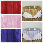 """85"""" Square Pintuck TABLE OVERLAY Wedding Party Fancy Unique Linens Supplies"""