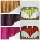 """90x90"""" Square SATIN Table OVERLAY Wedding Party Reception Buffet Decorations"""