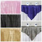 """15 pcs 72x72"""" Square Pintuck TABLE OVERLAYS Wedding Linens Tablecloths Wholesale"""