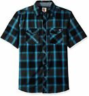 Dickies Men's Big and Tall Regular Fit Short Sleeve Fashion Pocket Plaid Shirt