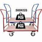 Heavy Duty 500KG Platform Hand Trolley Flat Bed Cart Sack Truck 8