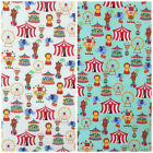Magial Circus 100% cotton fabric per 1/2 Metre or fat quarter ivory or Mint