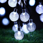 Solar Powered 30 LED String Light Garden Path Yard Lamp Outdoor Christmas Decor