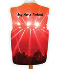 Personalised Novelty Waistcoat Red Dance Festival Design Night Party Gig Music