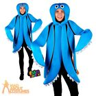 Adults Octopus Costume Mens Ladies Sea Life Fish Fancy Dress Outfit