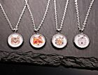 Beautiful Necklace with Cabochon Pendant -katze-wolf-tiger-fuchs