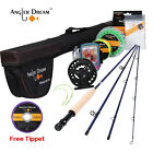 Fly Fishing Combo Traveller 3/5WT Carbon Fiber Fly Rod Large Arbor Fly Reel,Line
