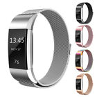 For Fitbit Charge 2 Magnetic Milanese Stainless Steel Wrist Watch Band Strap ELS
