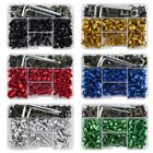 155pcs Universal Fairing Fastener Bolts Screws Kit M5 M6 Rivets Motorcycle Clips $17.99 USD on eBay