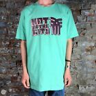 Fenchurch Mens Hot In The City Short Sleeve T-Shirt in Green in Size XL
