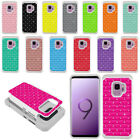 """For Samsung Galaxy S9 5.8"""" Color Anti Shock Sparkle Bling HYBRID Case Cover"""