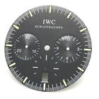 Dial For IWC Moonphase Chronograph with Date Month Week Black White Chapter Ring