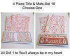 """Set 18""- 4 Piece Title & Mat Set-CHOOSE ONE-Great For Pages/Cards"