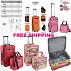 New Traveler Carry on 2 Piece Rolling Luggage Suitcase Tote