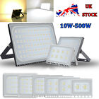 Ultra-thin LED Floodlight SMD Outdoor Waterproof IP67 Security Warm/Cool Lamp UK