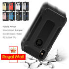For iPhone X 10 Armor ShockProof Rugged Bumper Silicone 360 Hybrid Case Cove