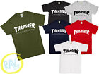 Mens THRASHER T Shirt Flame Magazine Logo Tee Top Skateboard Skater S - 2XL
