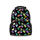 Woman Fashion Backpack Girl School Shoulder Bags Cute Butterfly Black Cat рюкзак