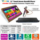 4TB HDD 77K Chinese English Song Touch Screen Karaoke Player Mixer Microphone