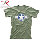 Mens Vintage Style Military T-shirt Army Air Corps Air Force Logo Rothco  image