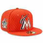 Miami Marlins New Era Orange 2017 Home Run Derby Side Patch 59FIFTY Fitted Hat