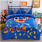 Hot Xmas Gift Cartoon Stitch Cotton Blend Duvet Comforter Cover 4pcs Bedding Set image