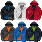 B&C PUFFER JACKET WINDPROOF WINTER COAT INSULATED THERMAL BOMBER LINED MEN