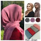 Kyпить Cotton Blend Viscose Maxi with Pearl/ Diamond Crinkle Hijab Scarf Soft 180x100cm на еВаy.соm