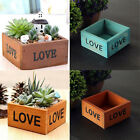 Love Letter Printed Wooden Box Container Succulent Planting Pot Photo Prop US