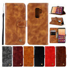 sumsung galaxy 5 - For Samsung S9 Plus A8 2018 Magnetic PU Leather Flip Card Slot Wallet Case Cover