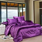 CYBER MONDAY DEAL SOLID 1000TC 6PC HOTEL SATIN SILK SHEET SET CHOOSE SIZE &COLOR