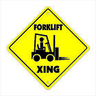 """Внешний вид - Forklift Xing Crossing Sign Zone Xing   Indoor/Outdoor   14"""" Tall"""