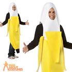 Adult Peeled Banana Costume Unisex Food and Drink Stag Fancy Dress Outfit New