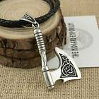 Viking Necklace Norse Axe Stainless Steel Bottle Opener Pendant
