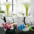 Artificial Latex Real Touch Calla Lily Flowers Bouquets Wedding Bridal Bouquets
